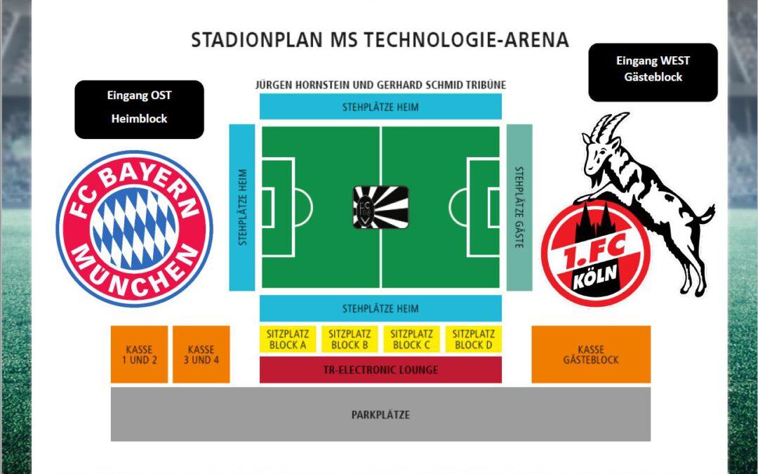 Wichtige Hinweise für Köln – Bayern